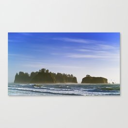 Sea Stacks Rialto Canvas Print
