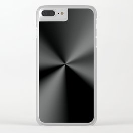 Metallilac Stainless Steel Print Clear iPhone Case