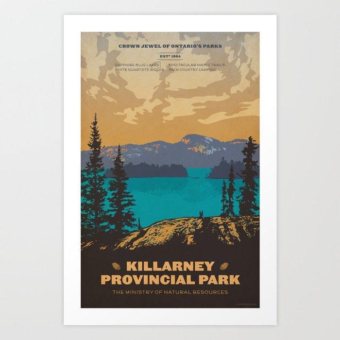 Killarney Park Poster Art Print
