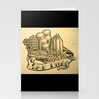 """san diego Stationery Cards featuring """"San Diego"""" by Vic Martin"""