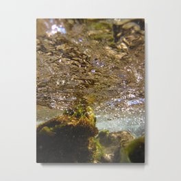 Crystalline Subsurface Metal Print