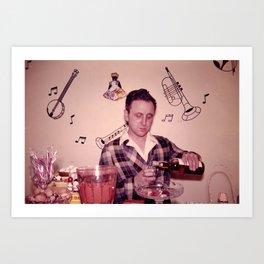 Whiskey Guy Art Print