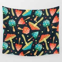 Bright mushrooms Wall Tapestry