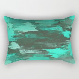 Chill Factor - Abstract in blue Rectangular Pillow