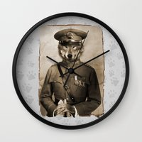 general Wall Clocks featuring The general by Seamless