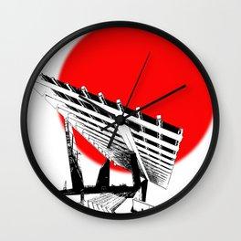 Barna Love Red Sun Wall Clock