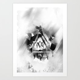 iPhone 4S Print - White Art Print