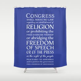 First Amendment Rights Shower Curtain