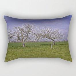 trees and fields near Laupheim Rectangular Pillow