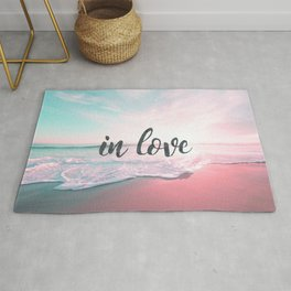 In Love on the beach Rug