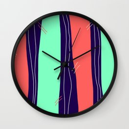 Tall Rivers Flow Endlessly, Seeking An Unattainable Outflow Wall Clock