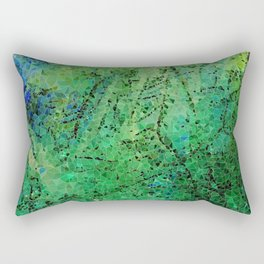 life in colors - blue and green Rectangular Pillow
