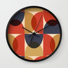 Mid Century pattern design 6 Wall Clock