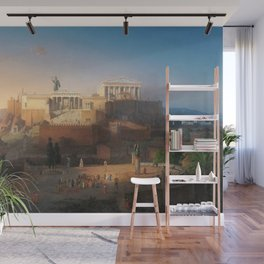 The Acropolis of Athens, Greece by Leo von Klenze Wall Mural