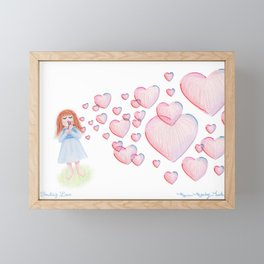 Sending Love Framed Mini Art Print