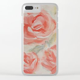 Petal Roses Clear iPhone Case