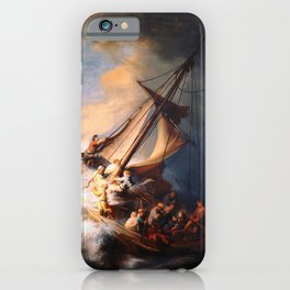 The Storm On The Sea Of Galilee Painting By Rembrandt iPhone Case