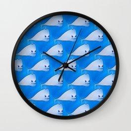 Whales (deep blue) Wall Clock