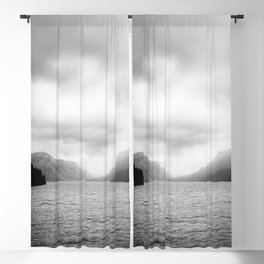 Landscape Photography   Waterton Lake   Alberta   Foggy   Clouds   Sky  Blackout Curtain