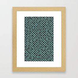 Hand Drawn Blue Framed Art Print