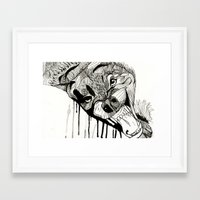fight Framed Art Prints featuring Fight! by Taylor Abate