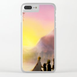 Sunshine Family Clear iPhone Case