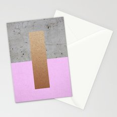 Abstract Lilac Pattern Stationery Cards