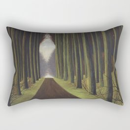 The Way through the Dark Forest by Leon Spilliaert Rectangular Pillow