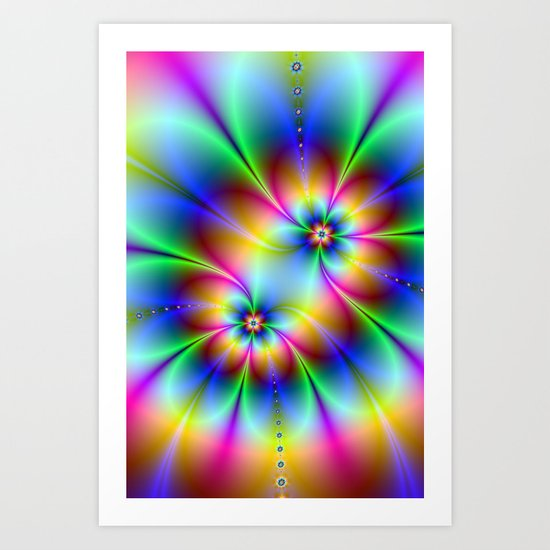 Flowers and Flowers Art Print