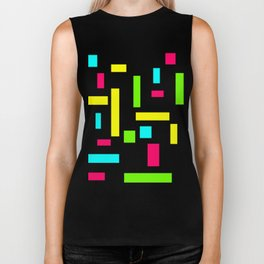 Abstract Theo van Doesburg Composition Neon on Black Biker Tank