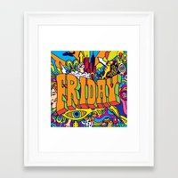 friday Framed Art Prints featuring Friday by Roberlan Borges