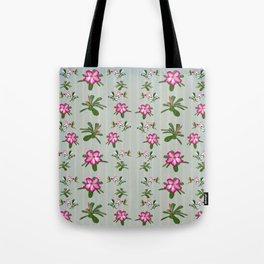 Desert Rose and Hummingbird Patterns Tote Bag