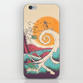 Surf Before Christmas iPhone Skin