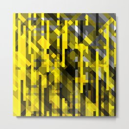 abstract composition in yellow and grays Metal Print