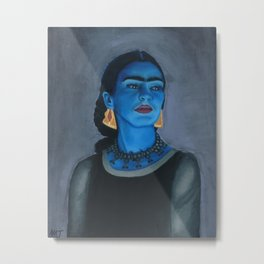 Blue Frida Metal Print