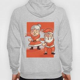 Mr. Santa and Mrs. Claus Dancing Christmas Celebration Hoody