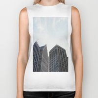 detroit Biker Tanks featuring Downtown Detroit by Michelle & Chris Gerard