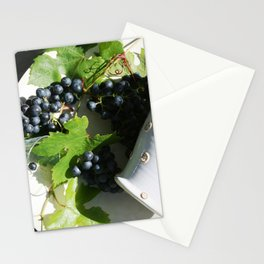 Red wine for two Stationery Cards