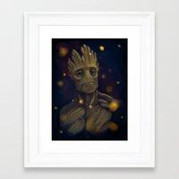 groot Framed Art Prints featuring Groot by Ka-ren