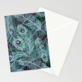 Peacock of Another Color Stationery Cards