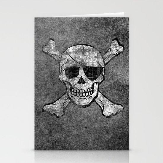 Black Pirate  Stationery Cards