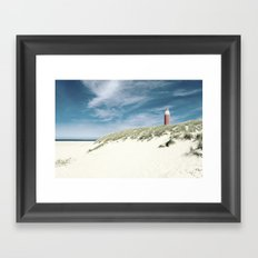 lighthouse Eierland Framed Art Print