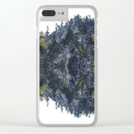 Mirrored landscape 4 pyrenees Clear iPhone Case