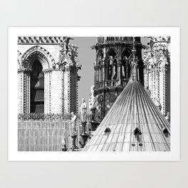 Notre Dame Roofscape Art Print