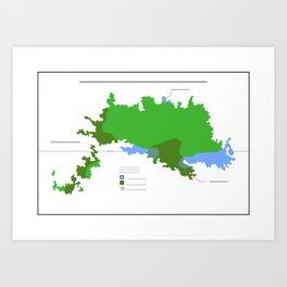 Anzac Map III Art Print