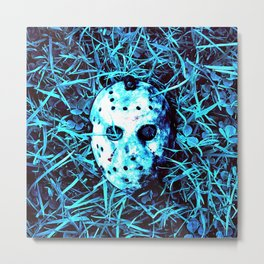 jason  mask Metal Print
