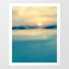 Santa Fe sunset Art Print