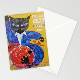 1994 Montreal Jazz Festival Cool Cat Poster No. 3 Gig Advertisement Stationery Cards