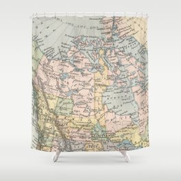 Vintage Map of Canada (1892) Shower Curtain