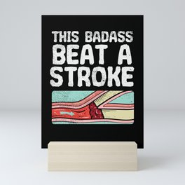 This Badass Beat A Stroke Mini Art Print